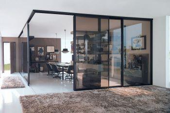 Collection cloison et porte coulissante vista - Porte coulissante isolante ...